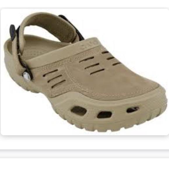 1b0a199b64763 CROCS Shoes | Yukon Sport Khakicoffee Mens Size 11 Leath | Poshmark